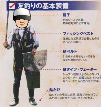 鮎釣り 服装