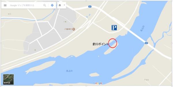 赤生津橋下流 鮎釣りポイント