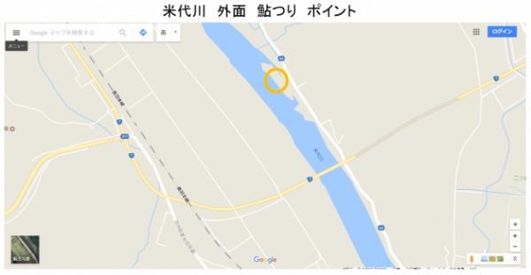 米代川 二ツ井橋 下流 鮎釣り ポイント