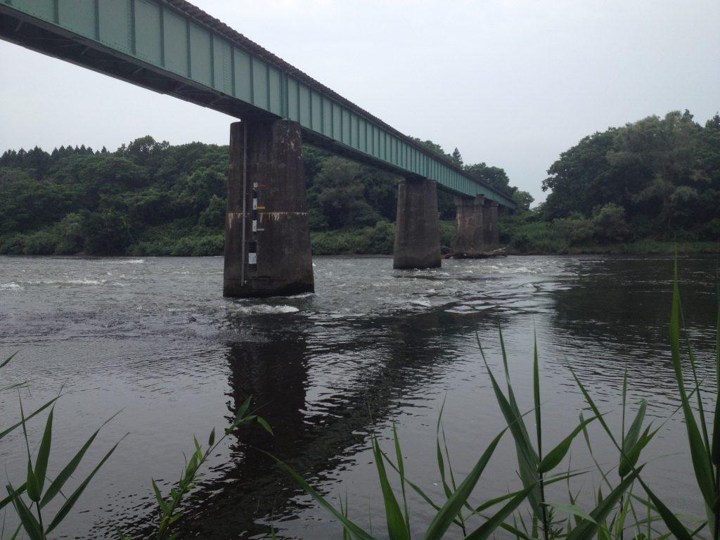 北上川 JR 花巻 釜石線 鉄橋下