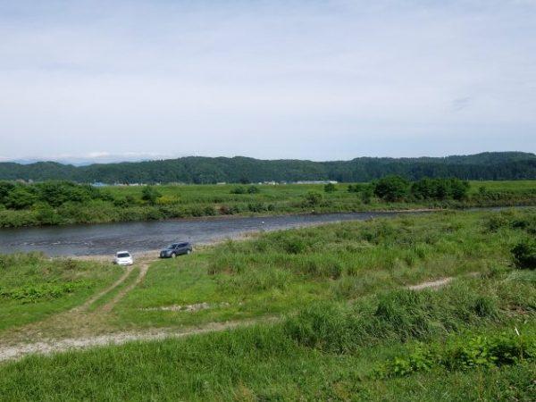 鮭川 真室川 合流点
