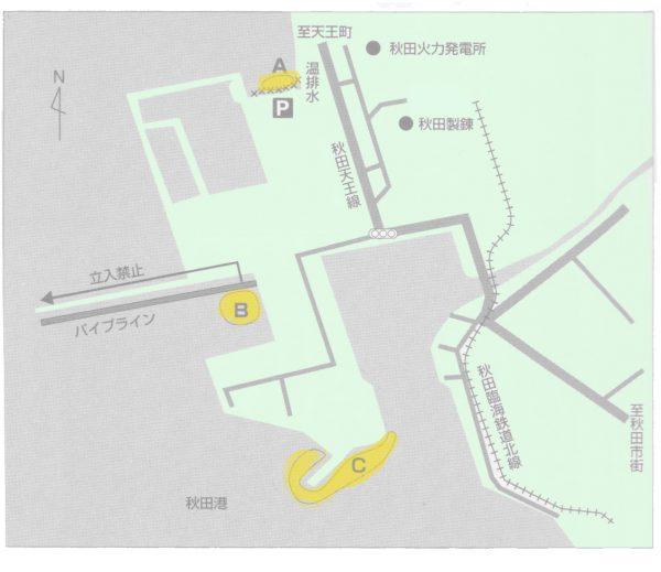 秋田港シーバス釣りポイント