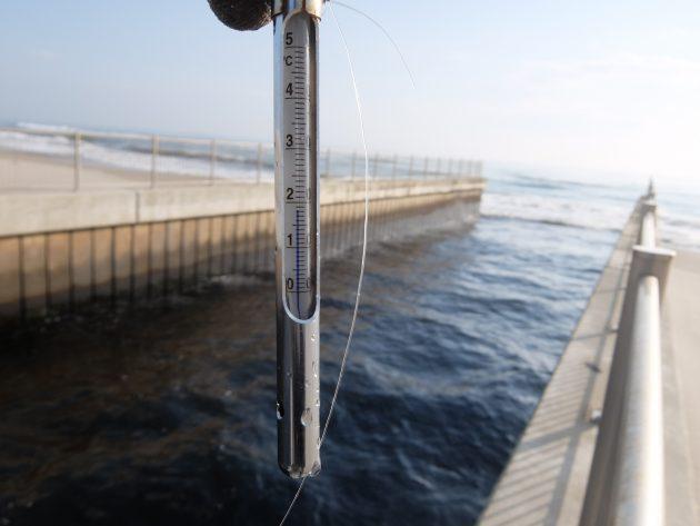 蒲生浄水場 温度測定 冬