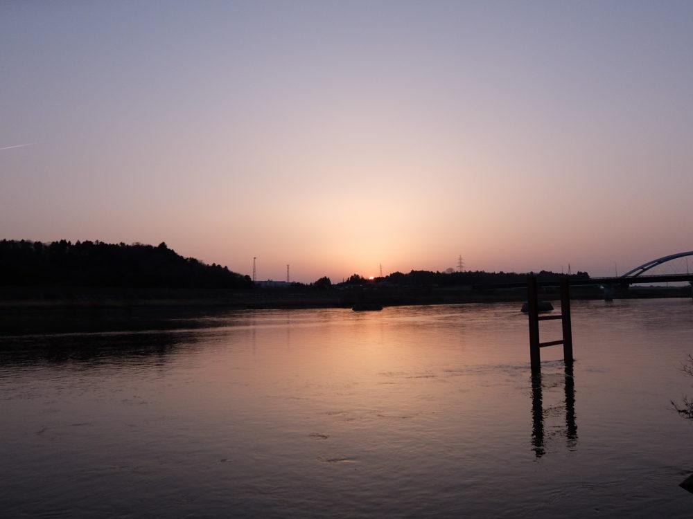 場所:鳴瀬堰 夕焼け