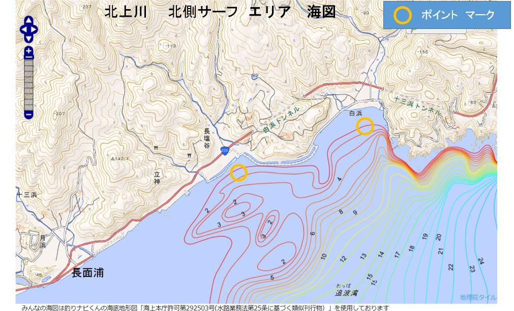 北上川  北側サーフ エリア 海図