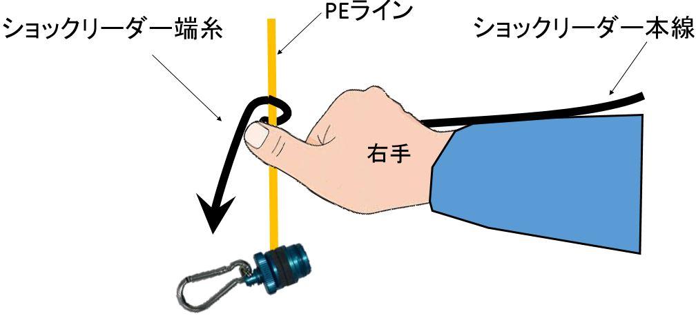 FGノット編み付け3