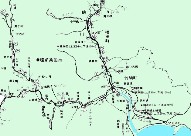 気仙川 釣り マップ