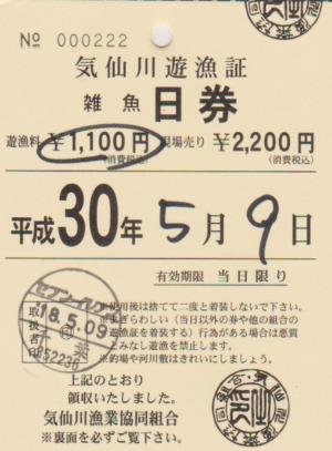 気仙川 魚券