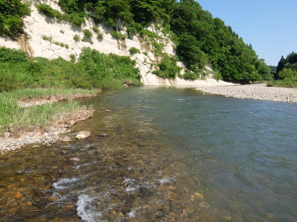 鮭川&小又川 合流点
