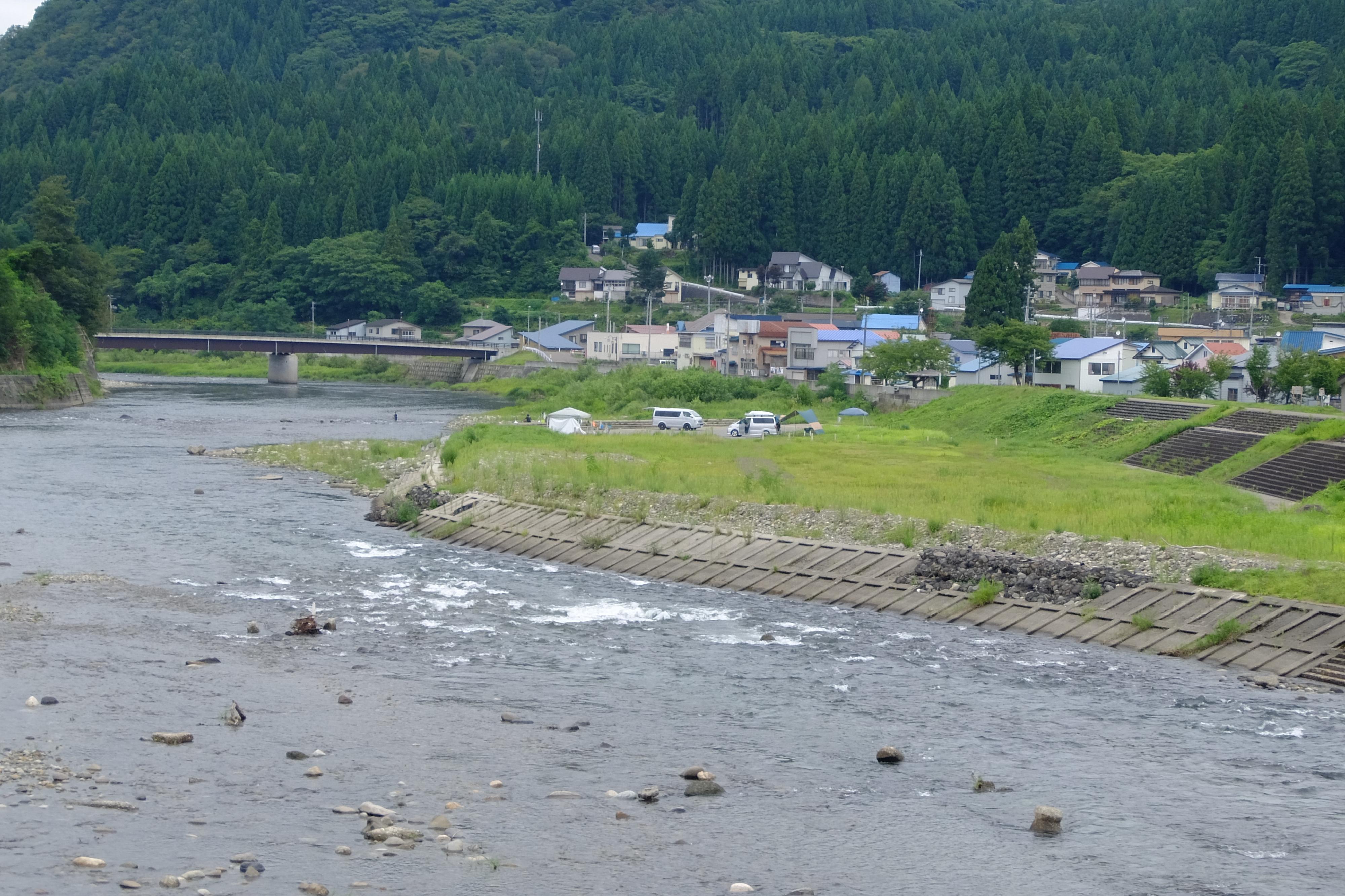 阿仁川 鮎釣り キャンプ