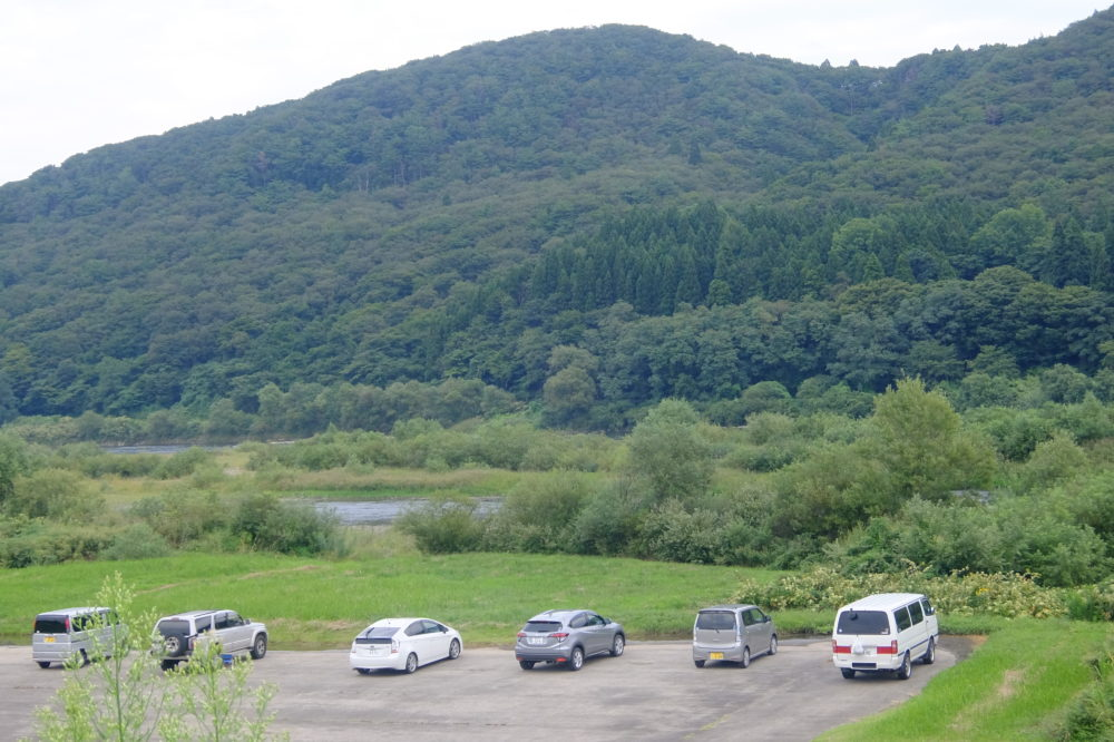 藤琴川との合流地点