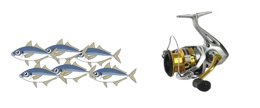 アジ釣り用スピニングリール