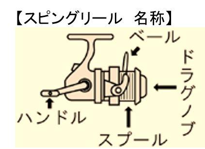 基本のスピニングリールの使い方