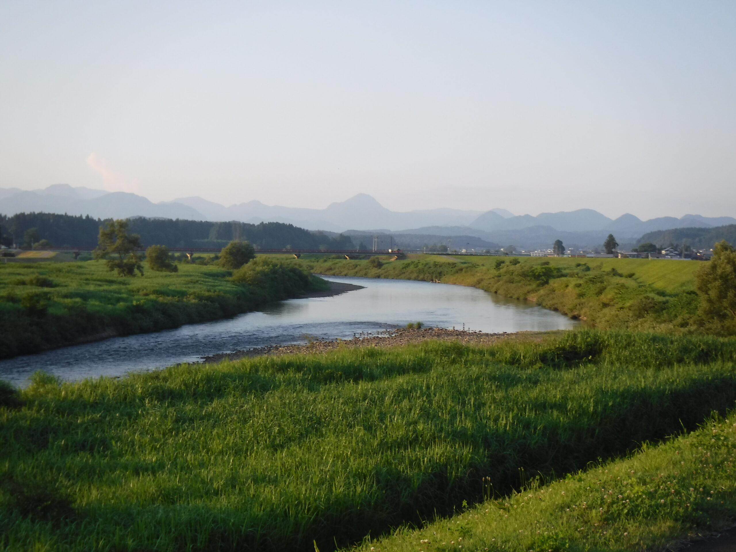 鮭川 鮭川橋  鮎釣り
