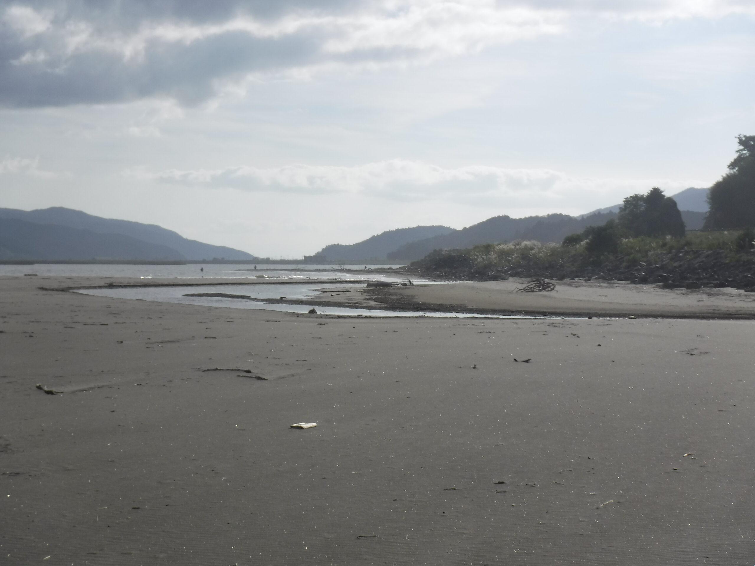 追波川河口左側  月浜  コチ・ヒラメ釣り